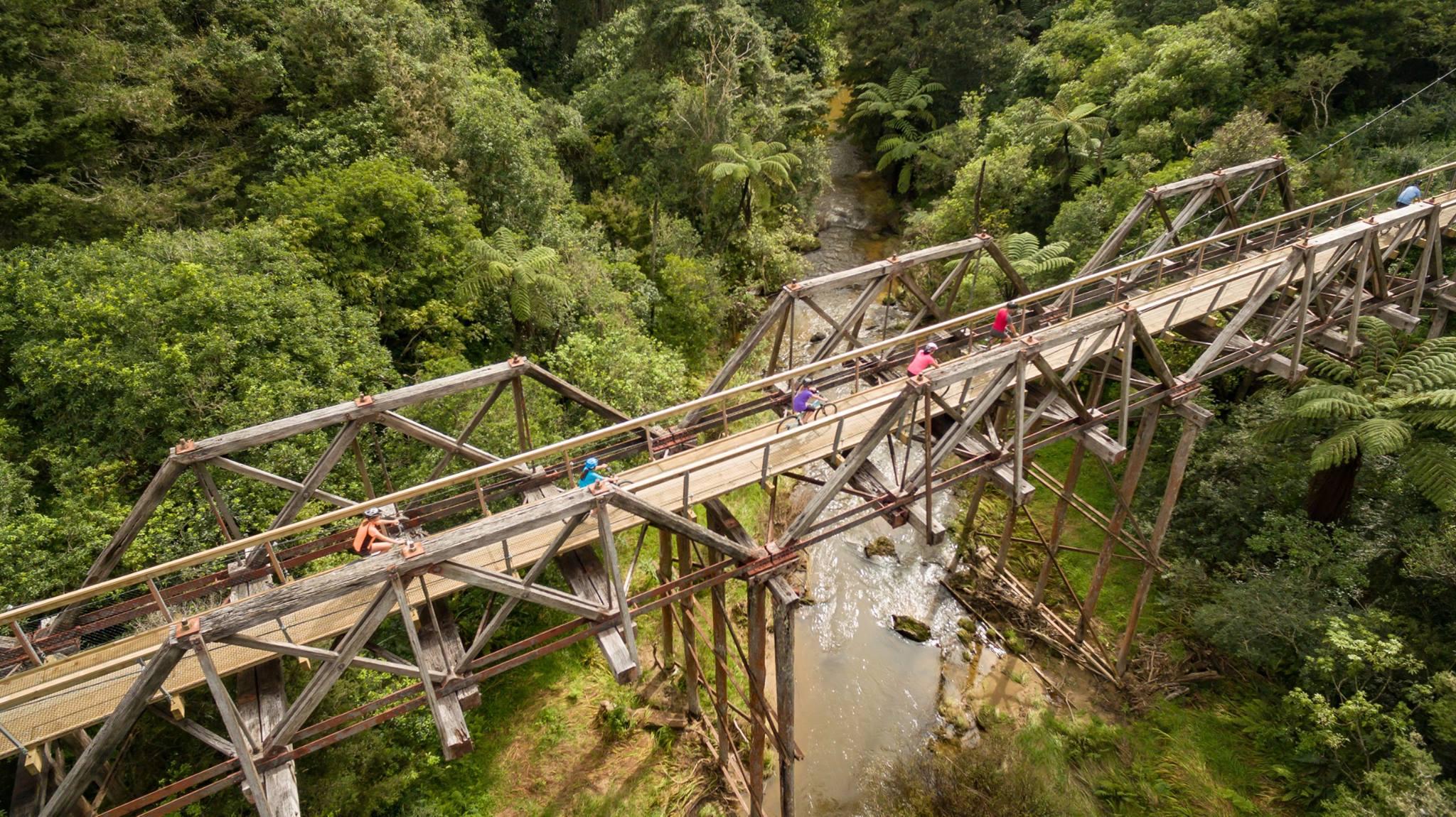 Twin Bridges between Kaikohe and Opua cycle trail